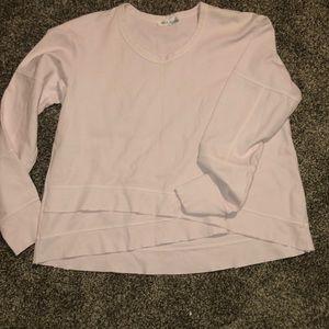 Wilt sweatshirt sz small pink with cross cross hem